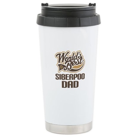 Siberpoo Dog Dad Ceramic Travel Mug