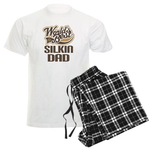Silkin Dog Dad Men's Light Pajamas