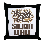 Silkin Dog Dad Throw Pillow