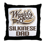 Silkinese Dog Dad Throw Pillow
