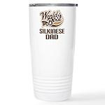 Silkinese Dog Dad Ceramic Travel Mug