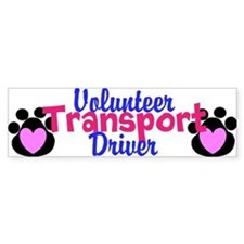 Volunteer Transport Driver Bumper Bumper Sticker