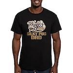 Silky Pug Dog Dad Men's Fitted T-Shirt (dark)