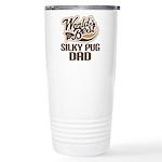 Silky Pug Dog Dad Ceramic Travel Mug
