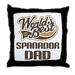 Spanador Dog Dad Throw Pillow