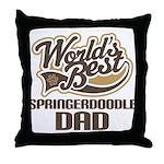 Springerdoodle Dog Dad Throw Pillow