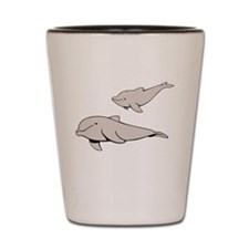 Buluga Whales Shot Glass