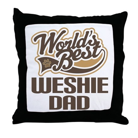 Weshie Dog Dad Throw Pillow
