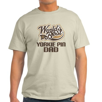 Yorkie Pin Dog Dad Light T-Shirt