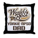 Yorkie-Apso Dog Dad Throw Pillow