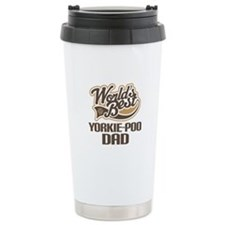 Yorkie-Poo Dog Dad Ceramic Travel Mug