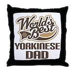 Yorkinese Dog Dad Throw Pillow