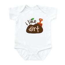 Funny I Like Dirt Infant Bodysuit