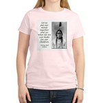 Sitting Bull Quote Women's Pink T-Shirt