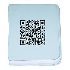 QR Code baby blanket