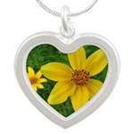 .coreopsis. Silver Heart Necklace