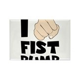 I Fist Pump Rectangle Magnet