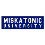 Miskatonic University Bumper Sticker (Blue)
