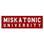 Miskatonic University Bumper Sticker (Red)