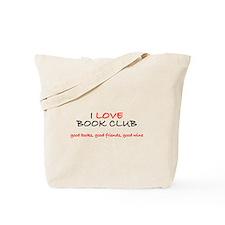 I Love Book Club Tote Bag