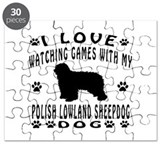 Polish Lowland Sheepdog design Puzzle