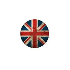 UK British English Union Jack Mini Button (100 pac