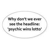 Why never see headline psychic wins Decal
