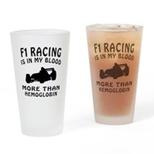 Formula one Racing Designs Drinking Glass