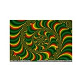 Fractal S~13 Rectangle Magnet (10 pack)
