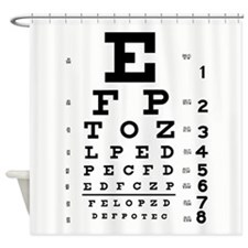 Eye Chart Shower Curtain