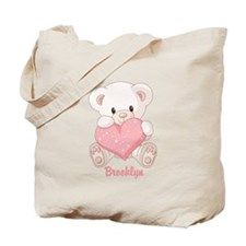 Custom name valentine bear Tote Bag