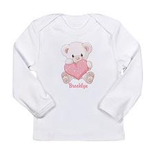 Custom name valentine bear Long Sleeve Infant T-Sh