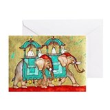2 Elephants ~ Single Greeting Card
