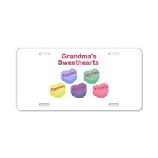 Custom Grand kids sweethearts Aluminum License Pla