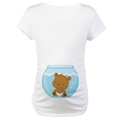 Baby Bear Fishbowl Maternity T-Shirt