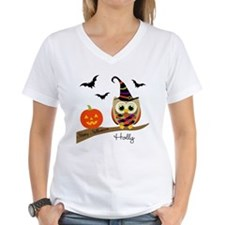 Custom name Halloween owl Shirt