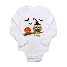 Custom name Halloween owl Baby Outfits
