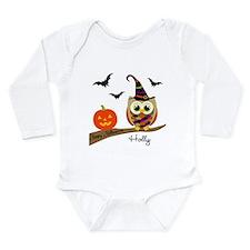 Custom name Halloween owl Onesie Romper Suit