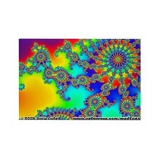 Fractal R~03 Rectangle Magnet (10 pack)
