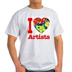 I Love Artists Light T-Shirt