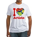 I Love Artists Fitted T-Shirt