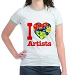 I Love Artists Jr. Ringer T-Shirt