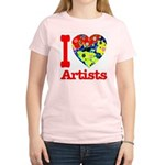 I Love Artists Women's Light T-Shirt