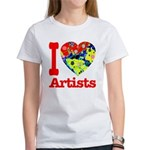 I Love Artists Women's T-Shirt