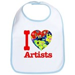 I Love Artists Bib