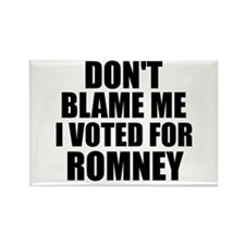 I voted Romney Rectangle Magnet (10 pack)