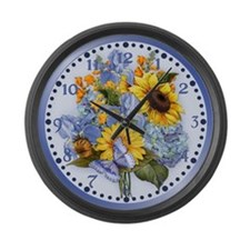 Unique Sunflower Large Wall Clock