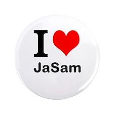 "I heart JaSam 3.5"" Button"