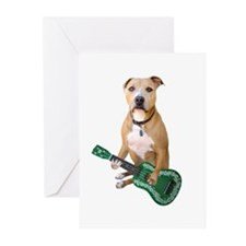 Pit Bull Ukulele Greeting Cards (Pk of 20)