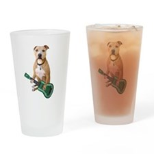 Pit Bull Ukulele Drinking Glass